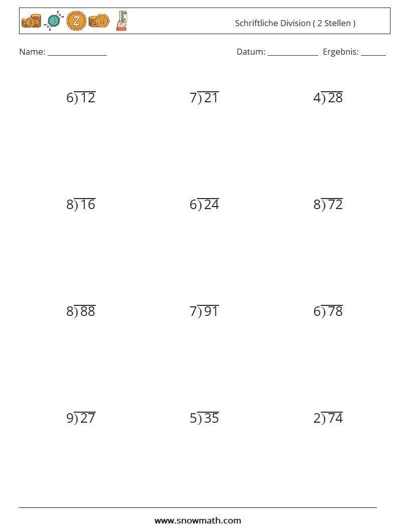 schriftliche division  20 stellen  Mathe Arbeitsblätter, Mathe ...